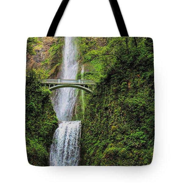 Spring At Multnomah Falls Tote Bag