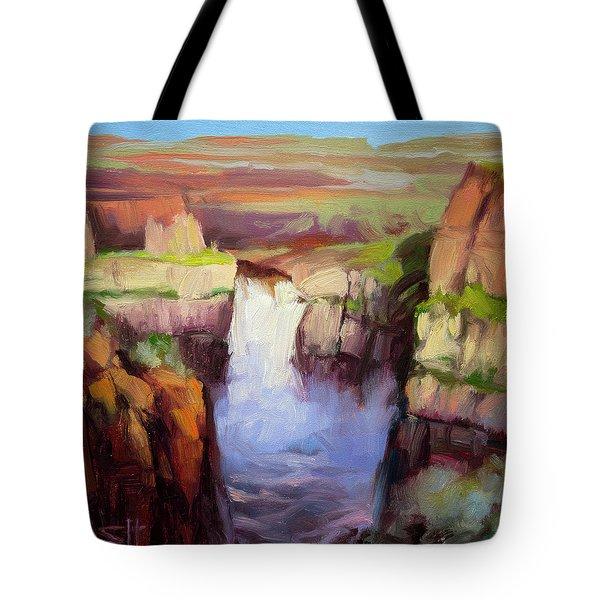 Spring At Palouse Falls Tote Bag
