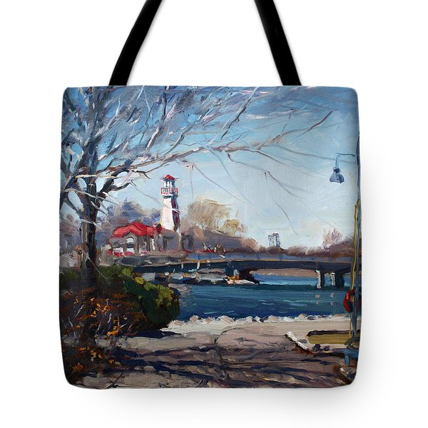Spring At Port Credit Tote Bag