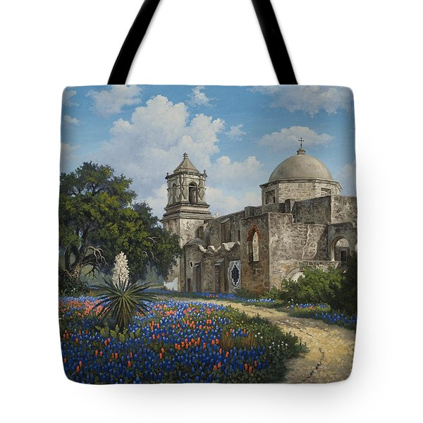 Tote Bag featuring the painting Spring At San Jose by Kyle Wood