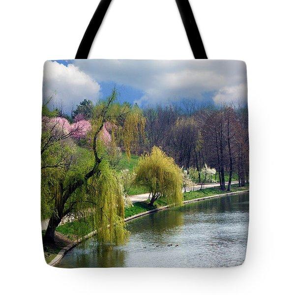 Spring At The Lake Tote Bag