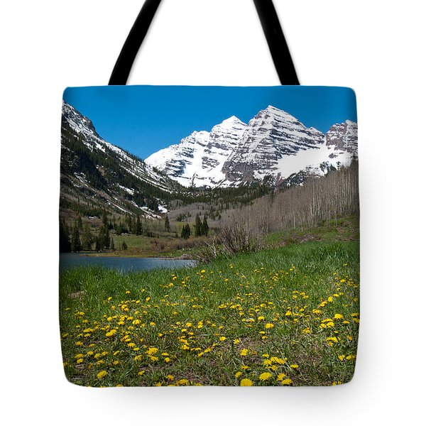 Spring At The Maroon Bells Tote Bag