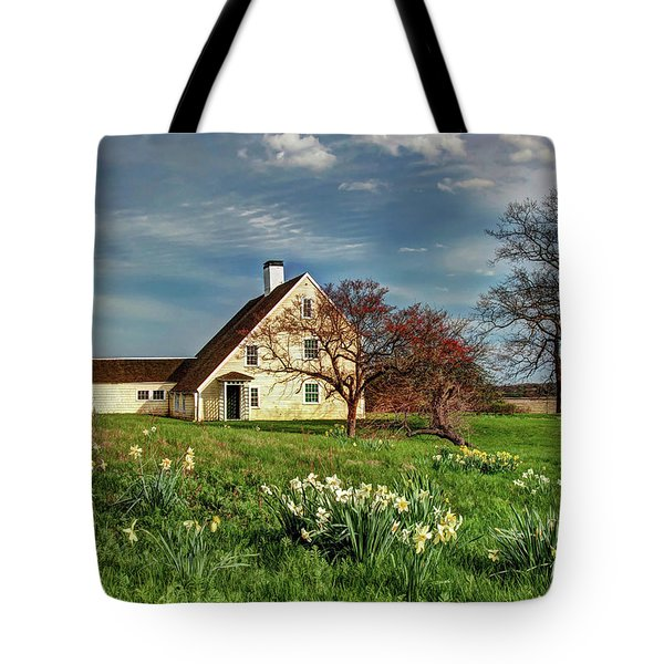Tote Bag featuring the photograph Spring At The Paine House by Wayne Marshall Chase