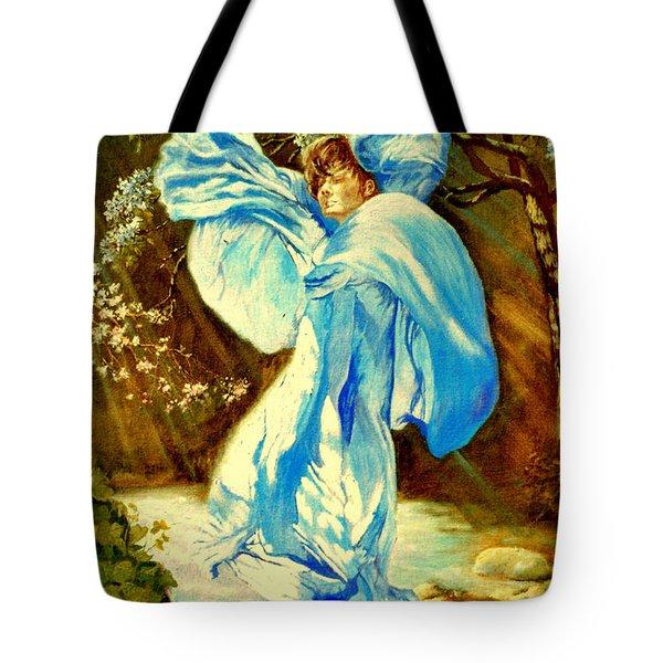 Tote Bag featuring the painting Spring - Awakening by Henryk Gorecki