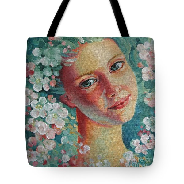 Tote Bag featuring the painting Spring B by Elena Oleniuc