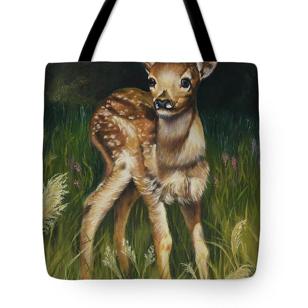 Spring Baby Fawn Tote Bag