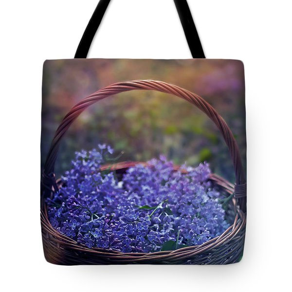 Spring Basket Tote Bag