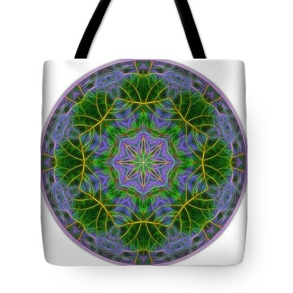 Spring Bloom Colors Mandala Tote Bag