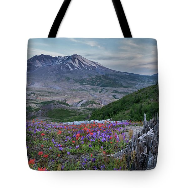 Spring Bloom Mt St Helens Tote Bag