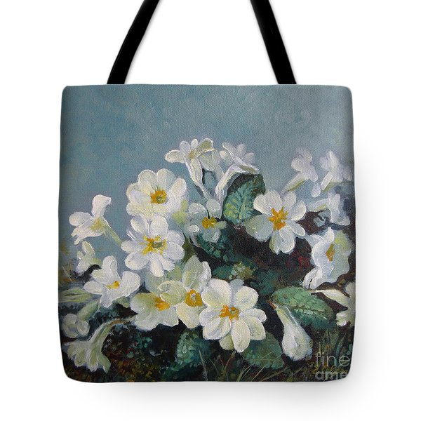 Tote Bag featuring the painting Spring Blooms by Elena Oleniuc