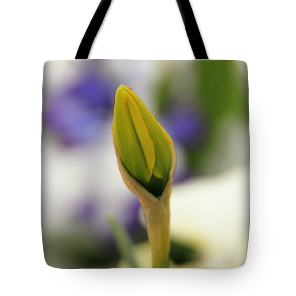 Tote Bag featuring the photograph Spring Blooms In The Snow by Chris Berry