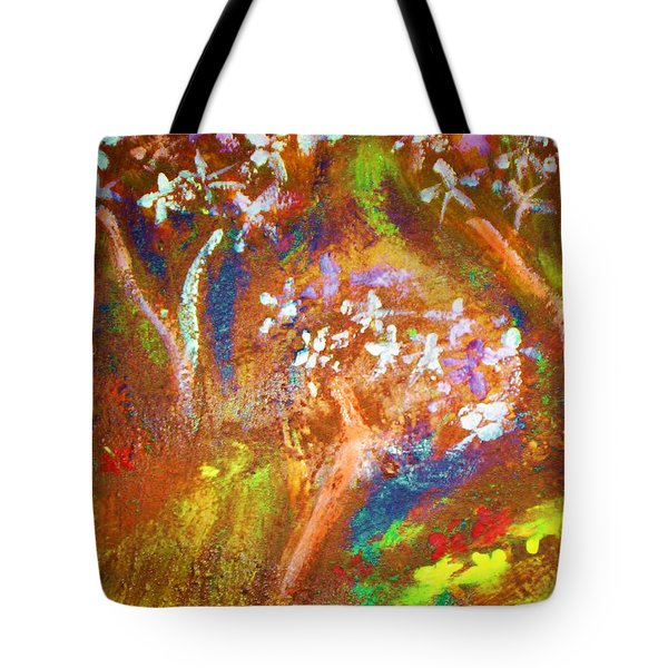 Tote Bag featuring the painting Spring Blossom by Winsome Gunning