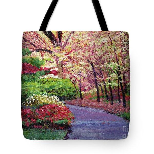 Spring Blossoms Impressions Tote Bag