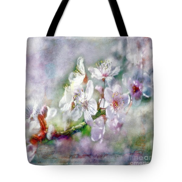 Spring Blossoms Tote Bag by Jean OKeeffe Macro Abundance Art