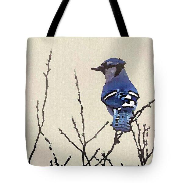 Spring Bluejay Tote Bag