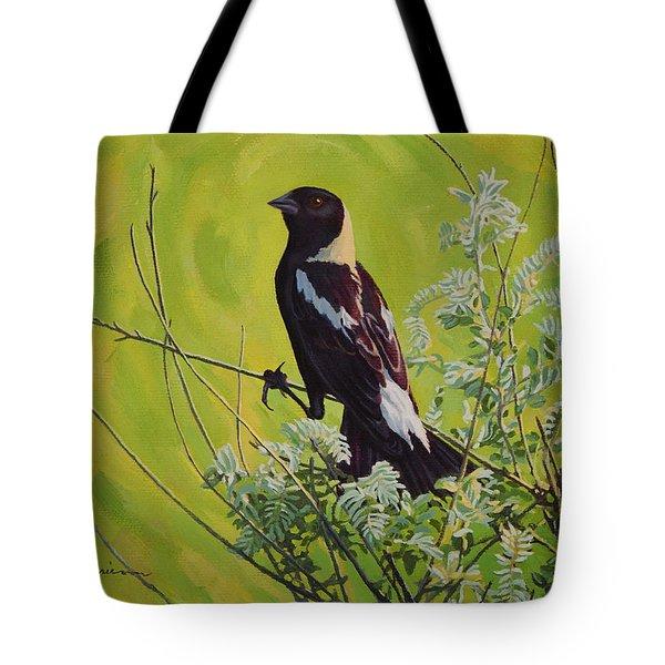 Spring Bobolink Tote Bag by Bruce Morrison