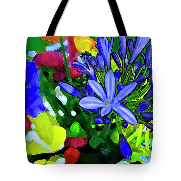 Tote Bag featuring the digital art Spring Bouquet by Gina Harrison