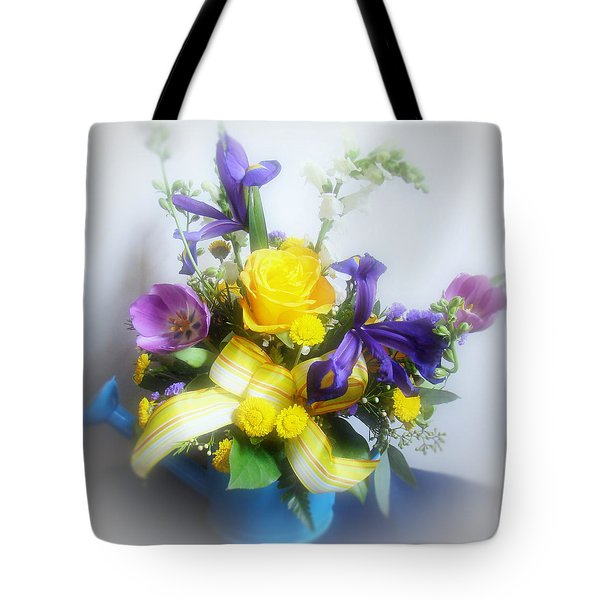 Spring Bouquet Tote Bag by Sandy Keeton