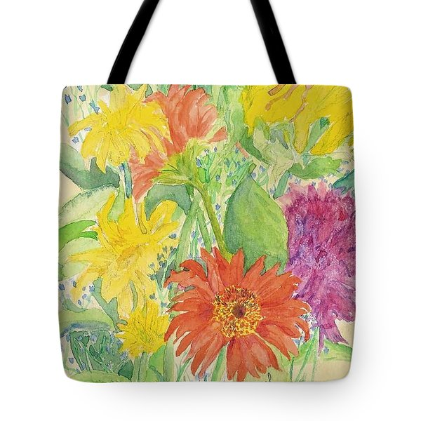 Tote Bag featuring the painting Spring Bouquet  by Vicki  Housel