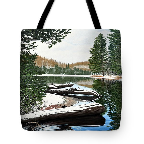 Tote Bag featuring the painting Spring Breakup by Kenneth M Kirsch