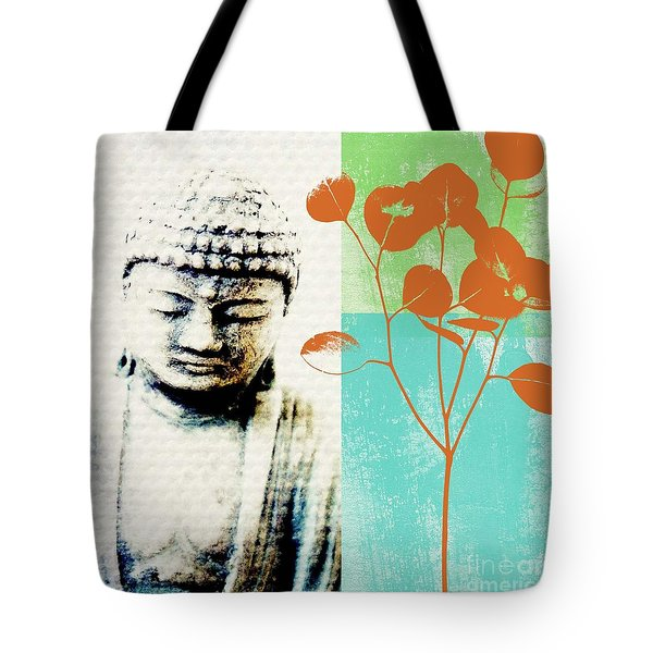 Spring Buddha Tote Bag by Linda Woods