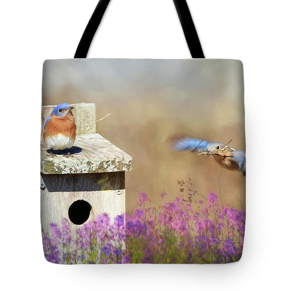 Tote Bag featuring the photograph Spring Builders by Lori Deiter