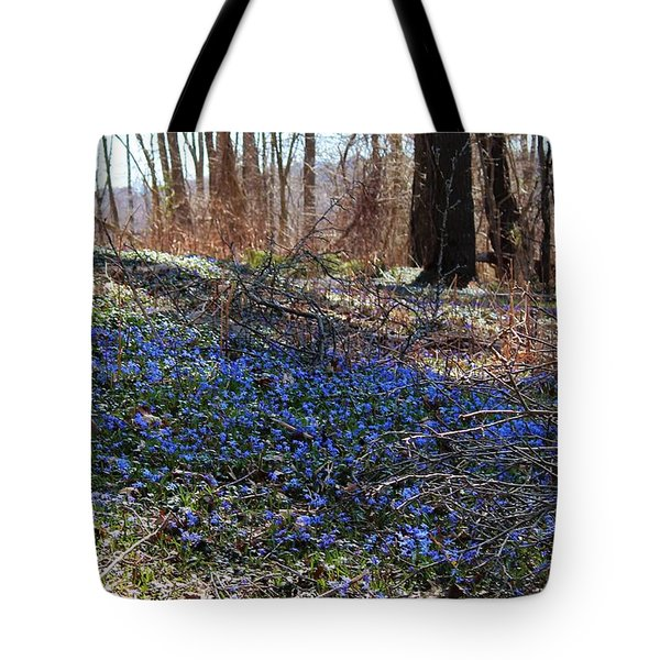 Spring By The River Tote Bag