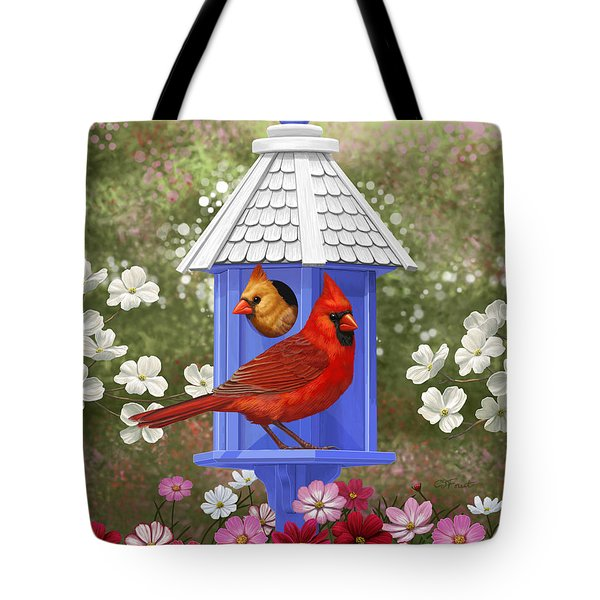Spring Cardinals Tote Bag