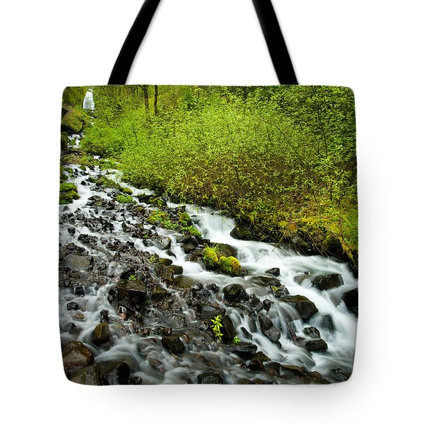 Spring Cascades Tote Bag by Mike  Dawson