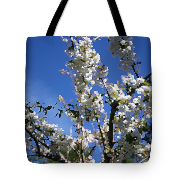 Spring Cherry Blossoms Tote Bag by Mary Gaines