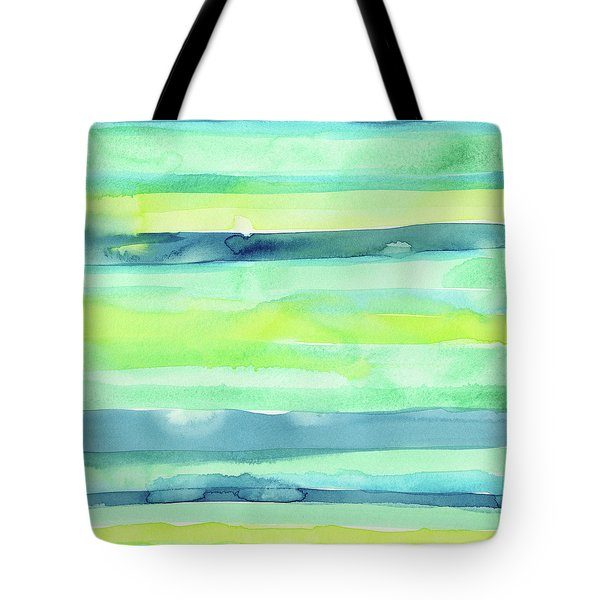 Spring Colors Pattern Horizontal Stripes Tote Bag