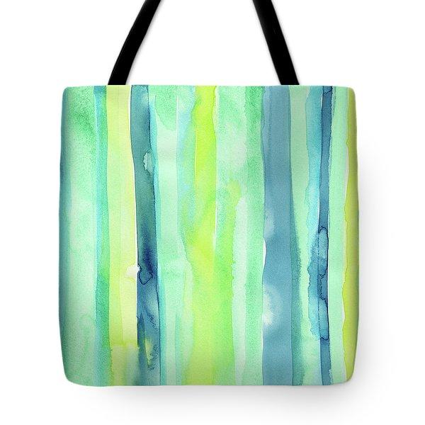 Spring Colors Stripes Pattern Vertical Tote Bag