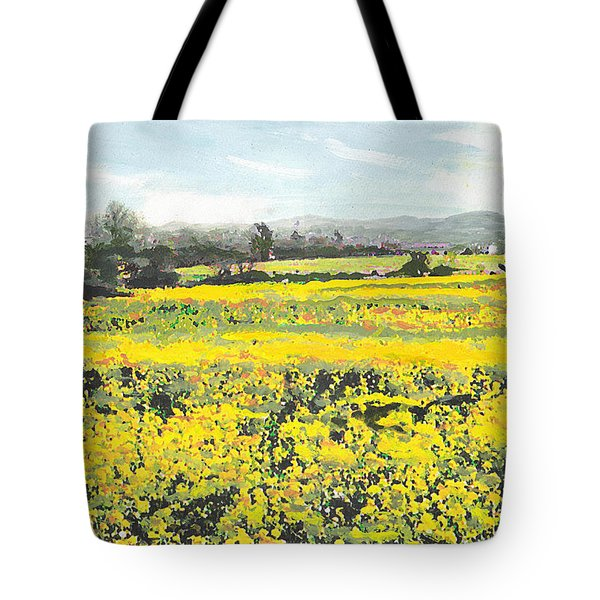 Spring Colors Yellow Mustard Fields Maryland Landscape Tote Bag