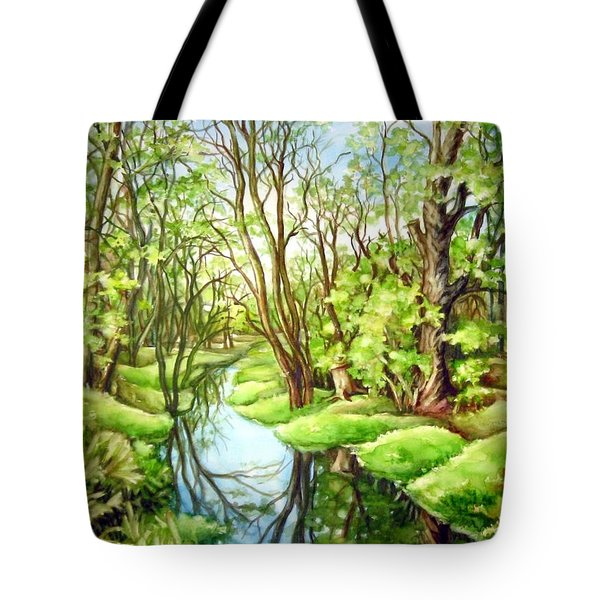 Spring Creek Tote Bag by Inese Poga