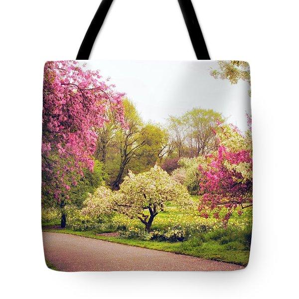Spring Crescendo Tote Bag by Jessica Jenney