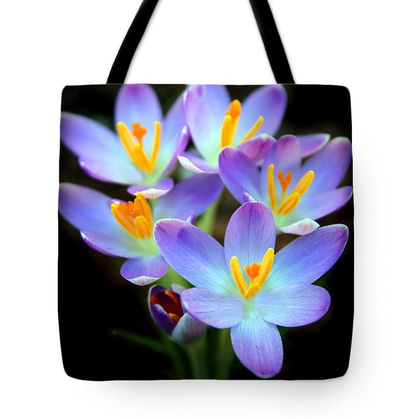 Tote Bag featuring the photograph Spring Crocus by Jessica Jenney