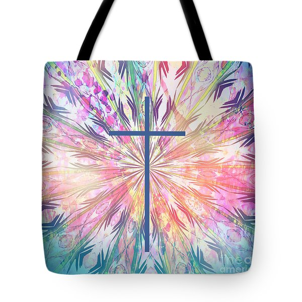 Tote Bag featuring the photograph Spring Cross by Geraldine DeBoer