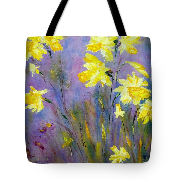 Spring Daffodils Tote Bag by Claire Bull