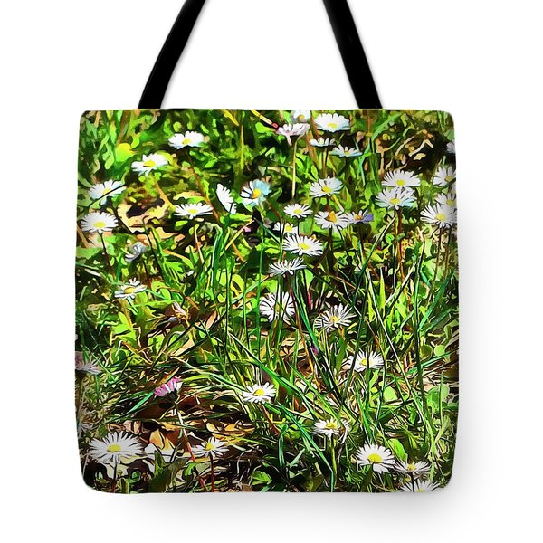 Spring Daisy Trails Tote Bag