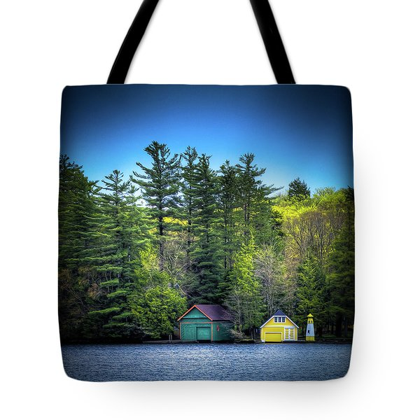 Spring Day At Old Forge Pond Tote Bag by David Patterson