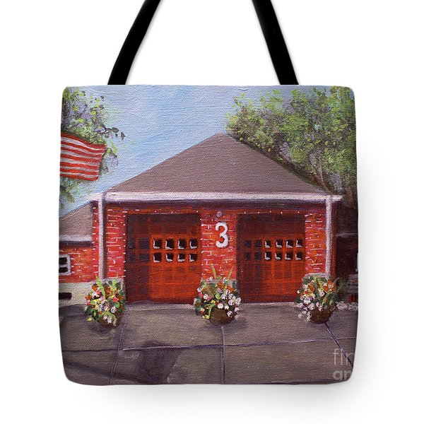 Spring Day At Willow Fire House Tote Bag by Rita Brown