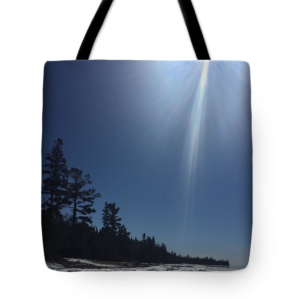 Tote Bag featuring the photograph Spring Day Lake Superior by Paula Brown