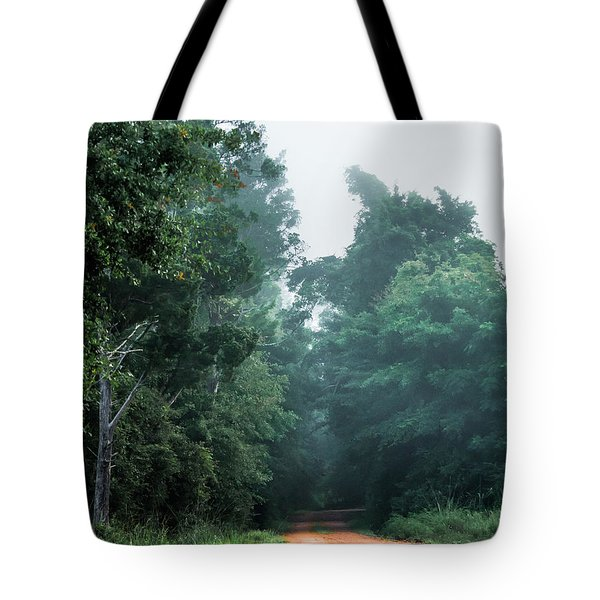 Tote Bag featuring the photograph Spring Dirt Road by Shelby Young