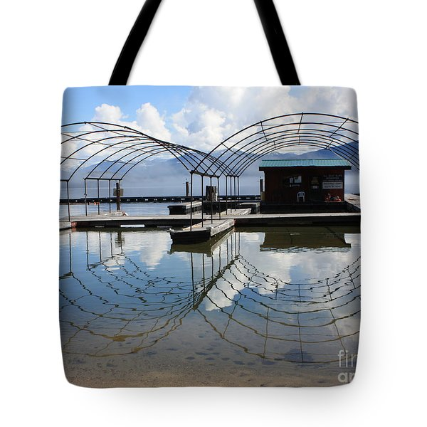 Spring Docks On Priest Lake Tote Bag by Carol Groenen