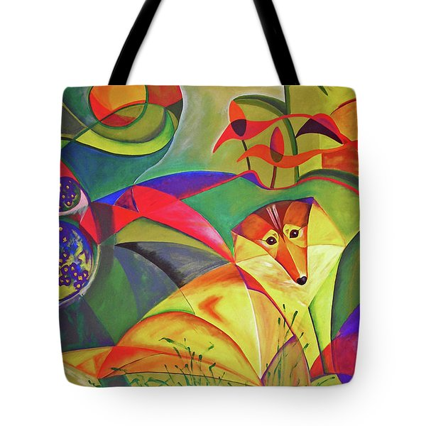 Spring Dog Tote Bag