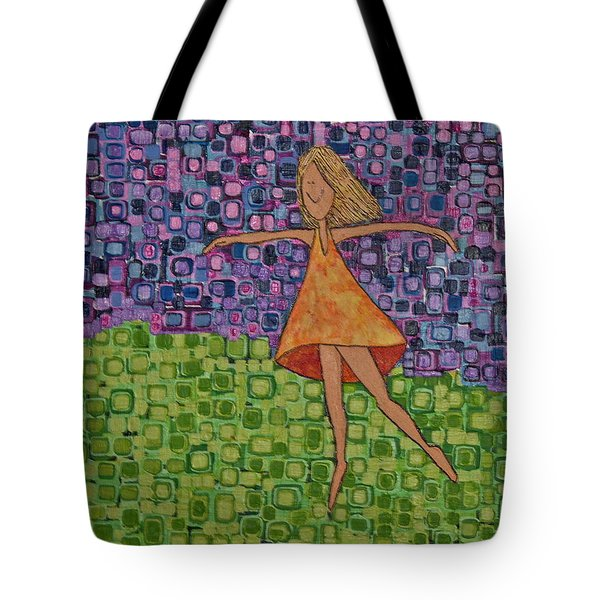 Tote Bag featuring the painting Spring by Donna Howard