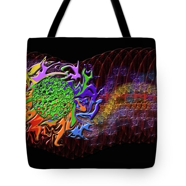 Spring Explodes Nighttime Tote Bag