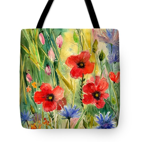 Spring Field Tote Bag