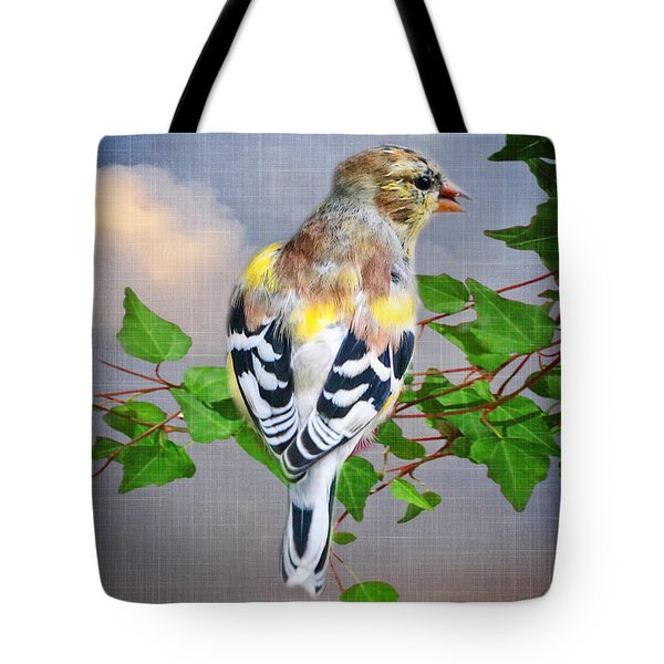 Spring Finch Tote Bag by Mary Timman