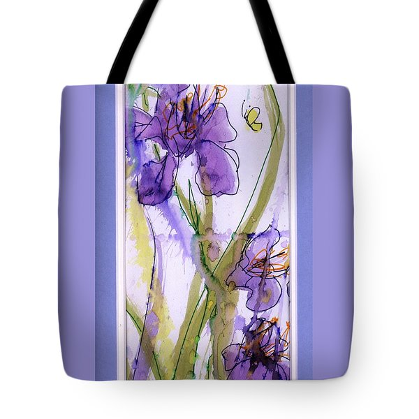 Tote Bag featuring the painting Spring Fling by P J Lewis